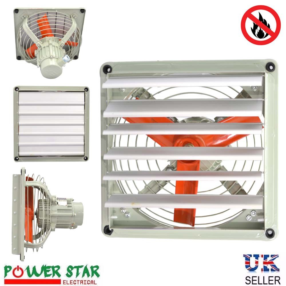 Explosion Proof Blowers : Atex rated ex explosion proof extractor ventilation axial