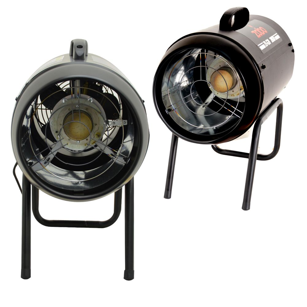 Gas Space Heaters With Blowers : Industrial portable gas forced space heater kw