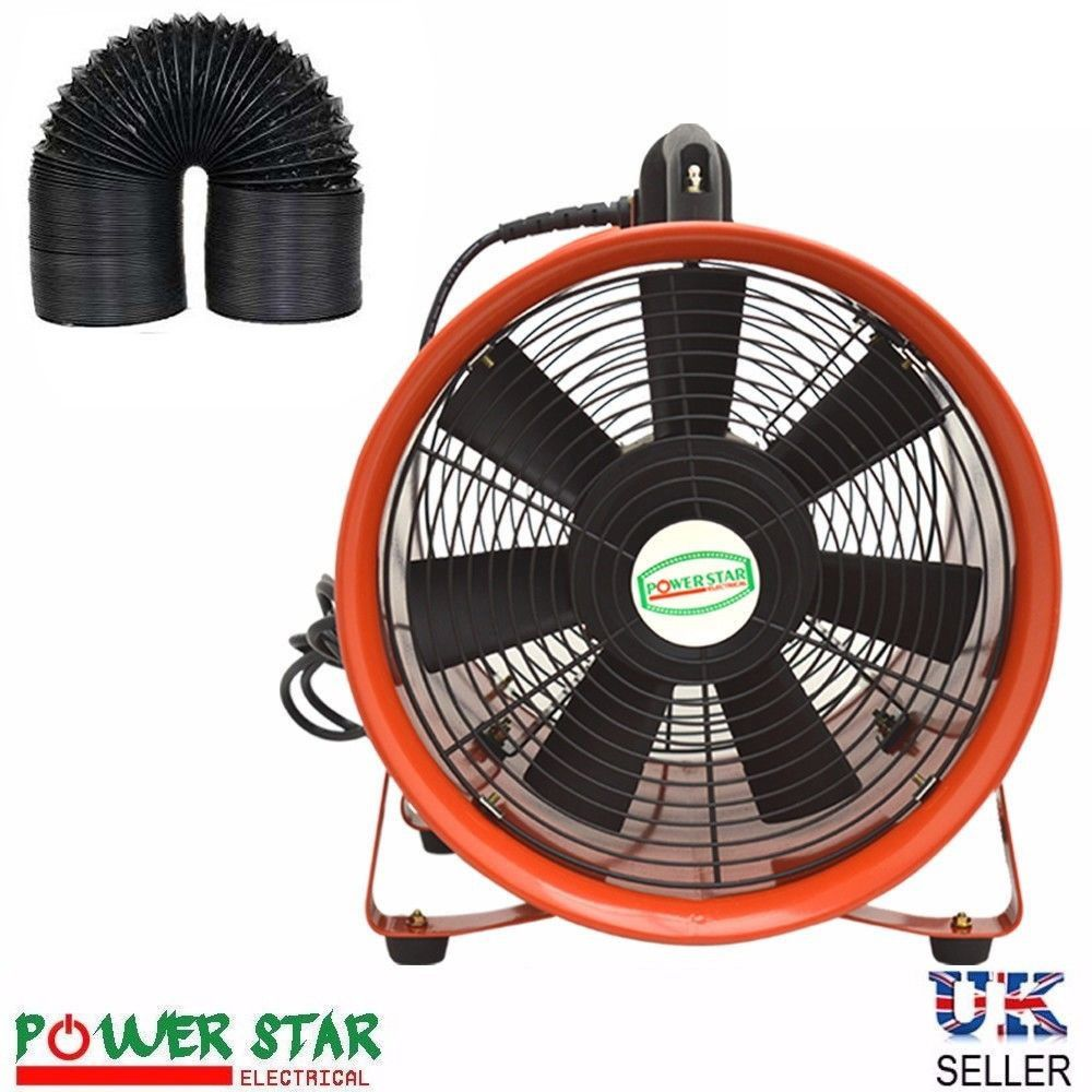 Portable Ventilation Fans : Portable ventilation fan industrial axial metal blower