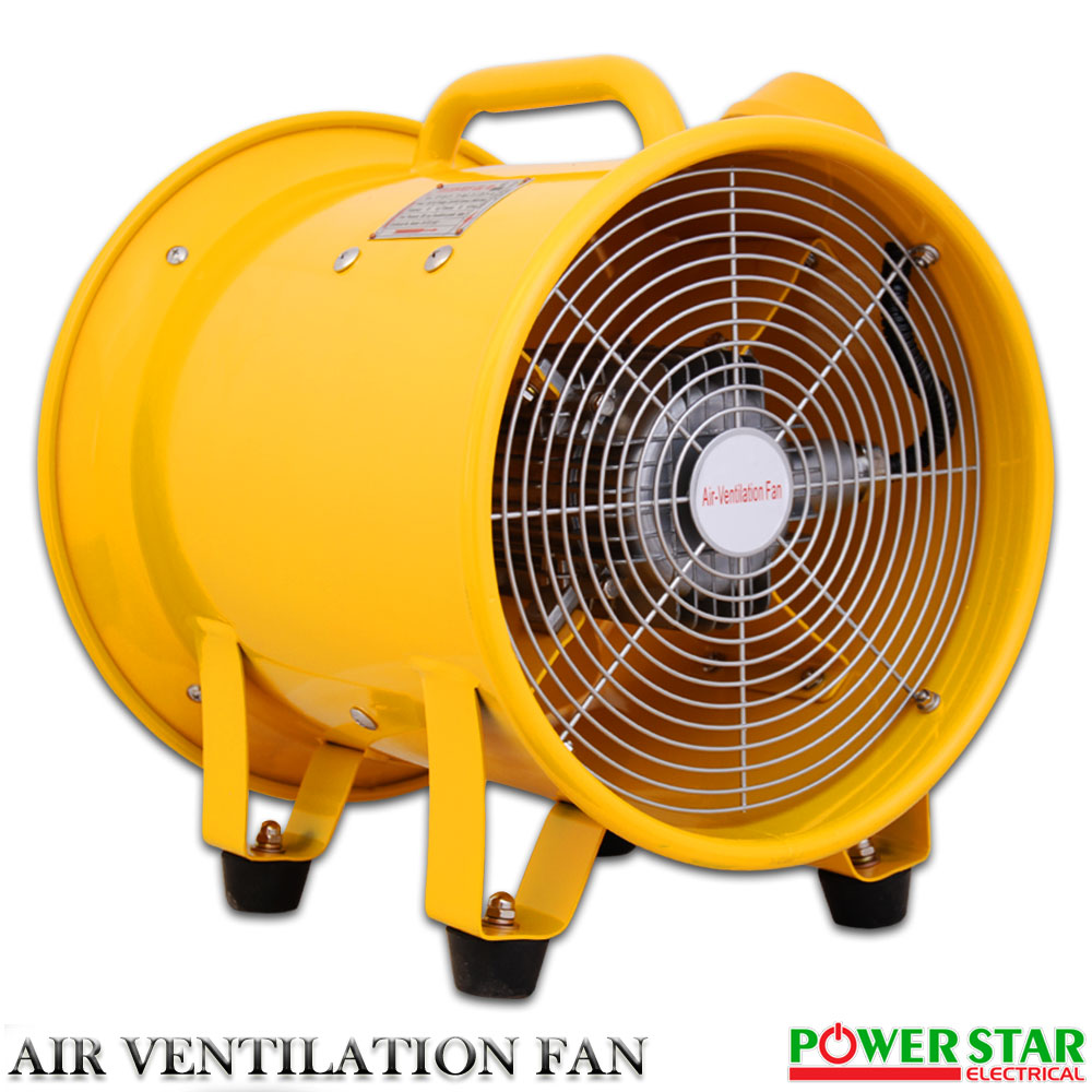Portable Ventilation Fan With Ducting : Portable ventilator axial blower extractor explosion proof