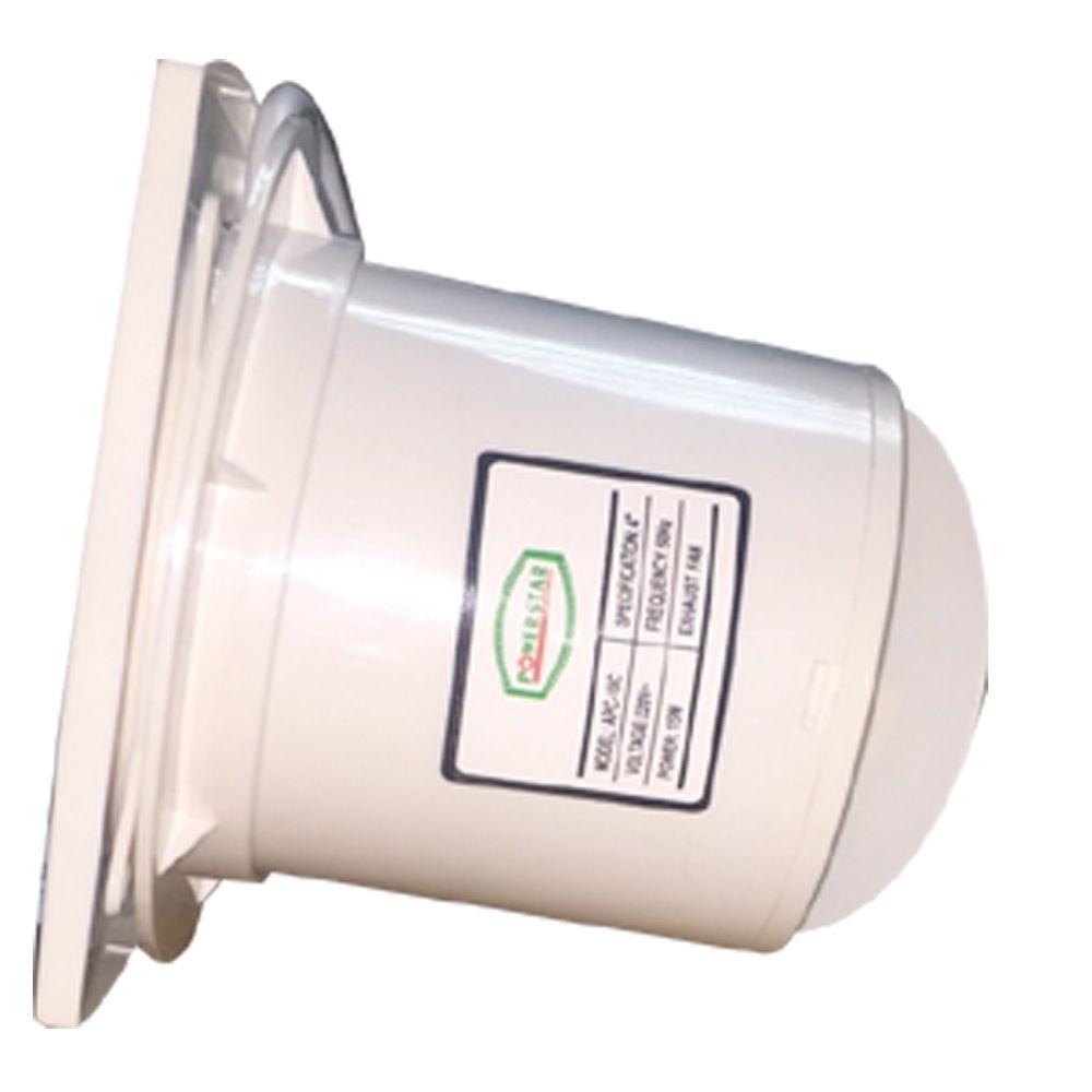Slimline 100mm 4 Ventilation Extractor PVC Kitchen Bathroom Wall