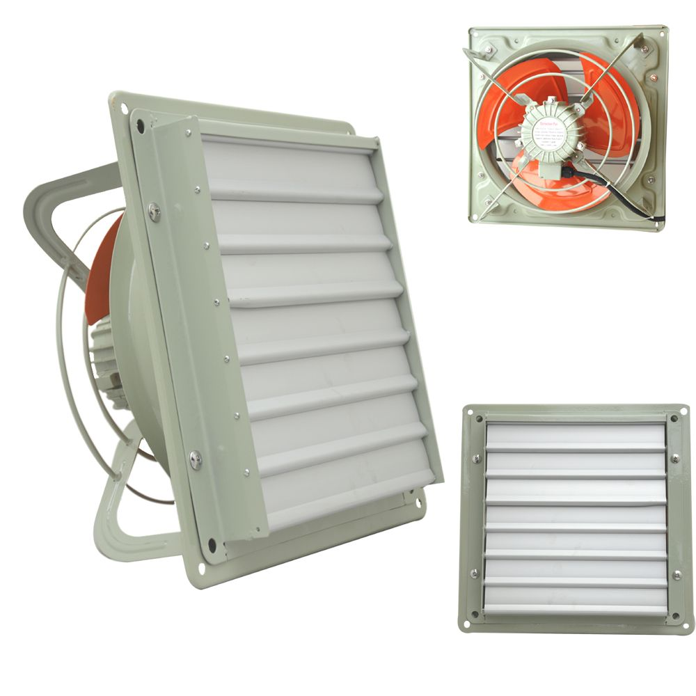 Heavy Duty Commercial Extractor Fan With Louver Gravity