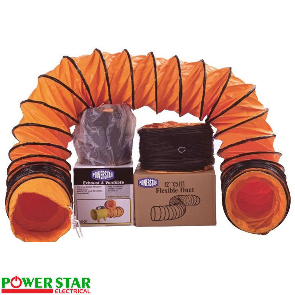 Heavy Duty Industrial Flexible PVC Air Duct Hose / Ducting Extendable