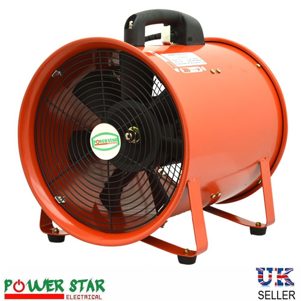 Portable Axial Blower, Extractor Ventilation Exhaust Fans, LED Light ...
