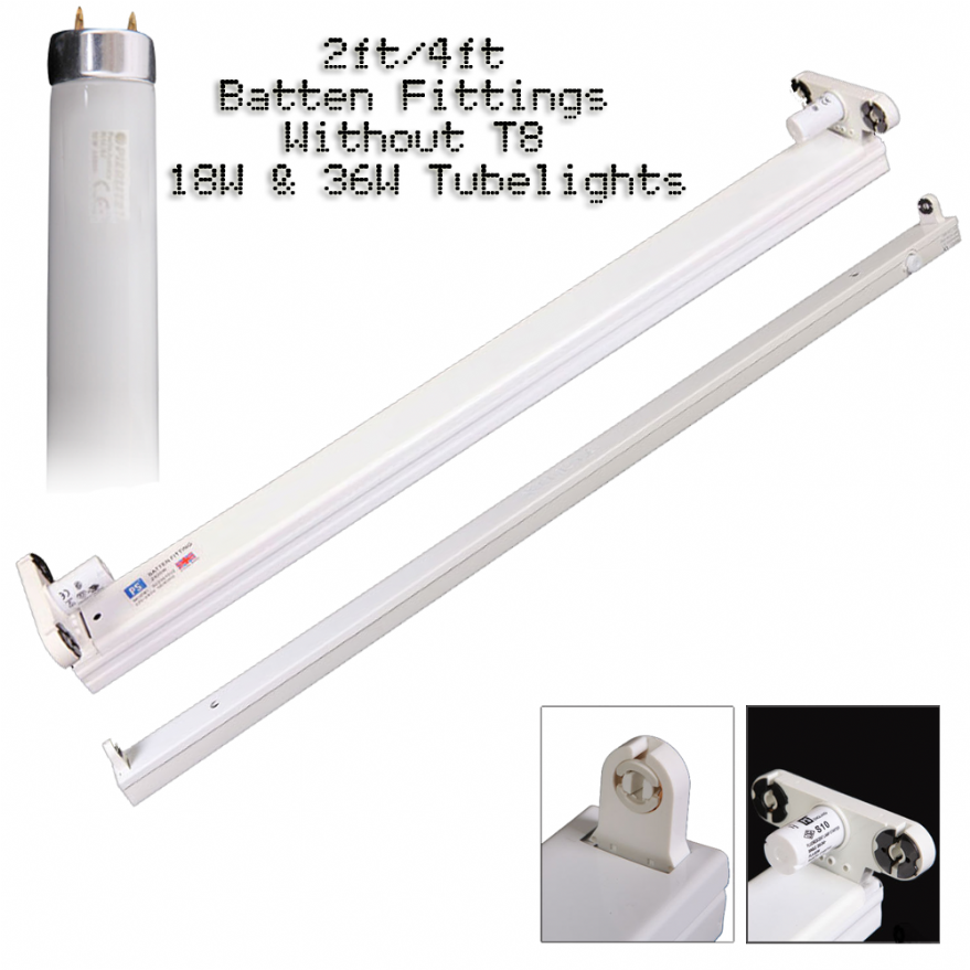 T8 Light Fixture 2ft: 2ft T8 Fluorescent Light Fixture