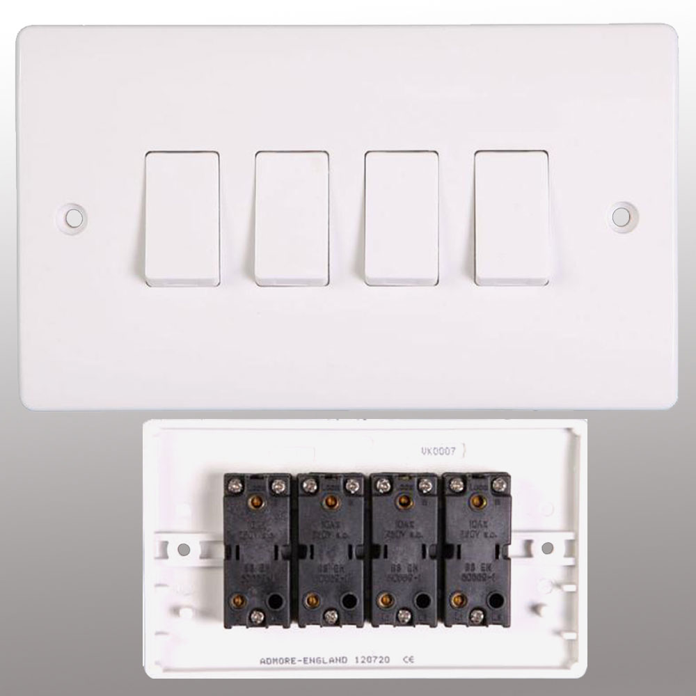 Electrical Switch Socket Wall Sockets Switches 4 Way Light Uk Powerstarelectricalsco